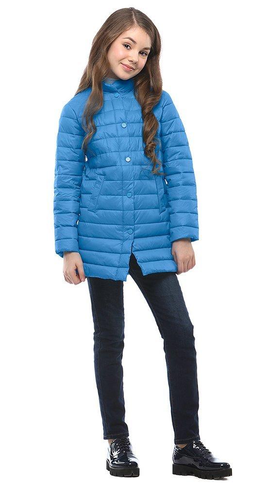 Удлиненная детская куртка CONSOКуртки<br><br><br>Размер: 116-122, 128-134, 140-146, 152-158<br>Материал: Био-пух<br>Цвет: Синий<br>Сезон: Демисезон<br>Длина: Средняя<br>Артикул: SG170209