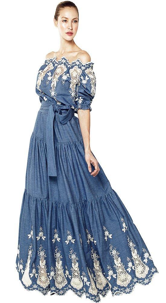 Элегантное платье в пол ПелагеяПлатья больших размеров<br><br><br>Размер: 42, 44, 46, 48, 50<br>Материал: хлопок, Кружево<br>Цвет: Голубой<br>Сезон: Лето<br>Длина: Длинная<br>Артикул: 72025/051