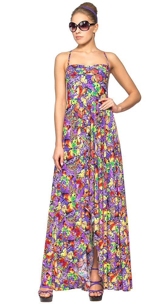 Изысканное длинное платье для пляжаПляжная одежда<br><br><br>Размер: 38, 40, 42, 44<br>Материал: полиамид<br>Цвет: Мульти<br>Сезон: Лето<br>Длина: Длинная<br>Артикул: WQ 021708