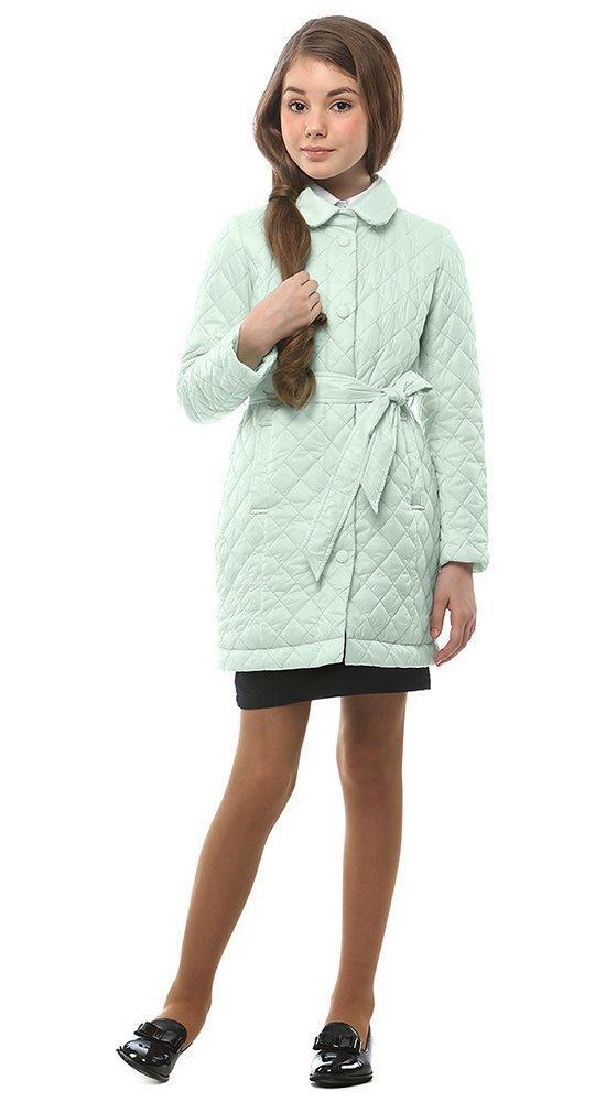 Куртка-пальто для девочки CONSO 2017Куртки<br><br><br>Размер: 116-122, 128-134, 140-146, 152-158<br>Материал: Био-пух<br>Цвет: Зелёный<br>Сезон: Демисезон<br>Длина: Средняя<br>Артикул: SG170210