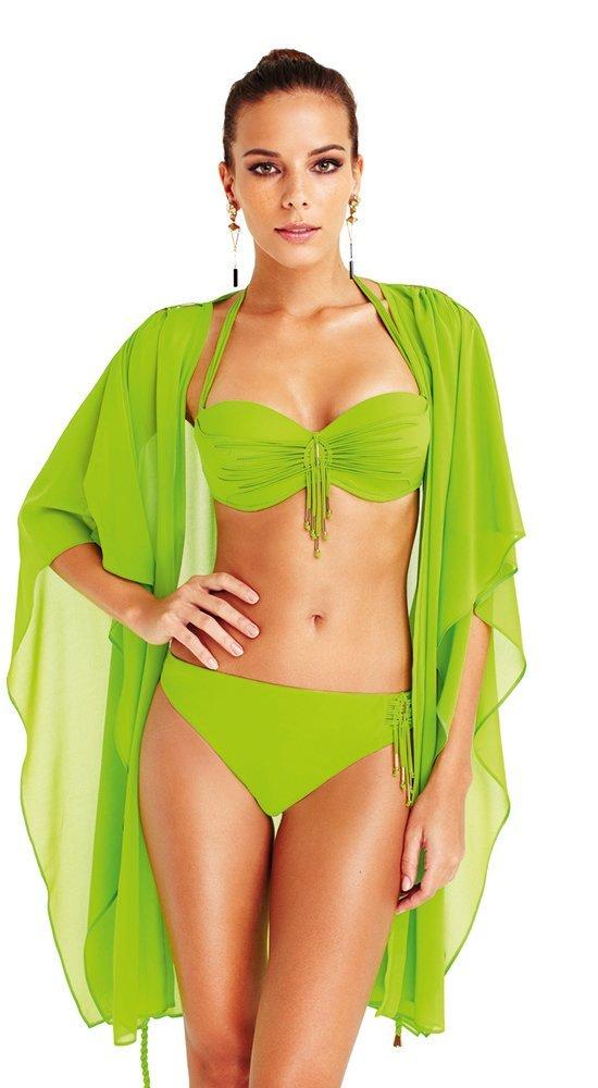Зеленый раздельный купальник-бандоХалтер<br><br><br>Размер: 42B, 42C, 44B, 44C, 46B, 46C<br>Материал: эластан, нейлон<br>Цвет: Зелёный<br>Сезон: Лето<br>Длина: None<br>Артикул: 160LO-B775-2
