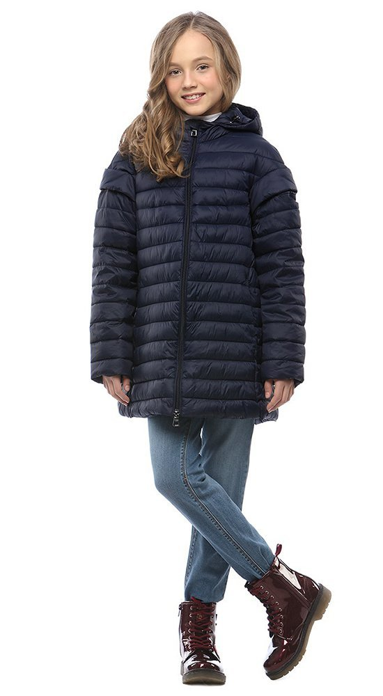 Детская куртка с капюшоном CONSOКуртки<br><br><br>Размер: 116-122, 128-134, 140-146, 152-158<br>Материал: Био-пух<br>Цвет: Синий<br>Сезон: Демисезон<br>Длина: Средняя<br>Артикул: SG170211