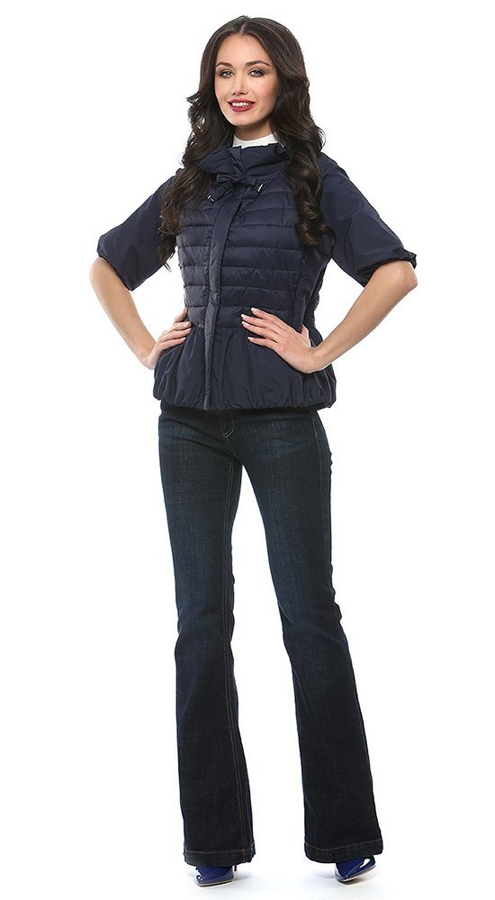 Ветровка с утеплителемДемисезонные куртки<br><br><br>Размер: 40, 42, 44, 46<br>Материал: Био-пух<br>Цвет: Синий<br>Сезон: Демисезон<br>Длина: Короткая<br>Артикул: SS170118