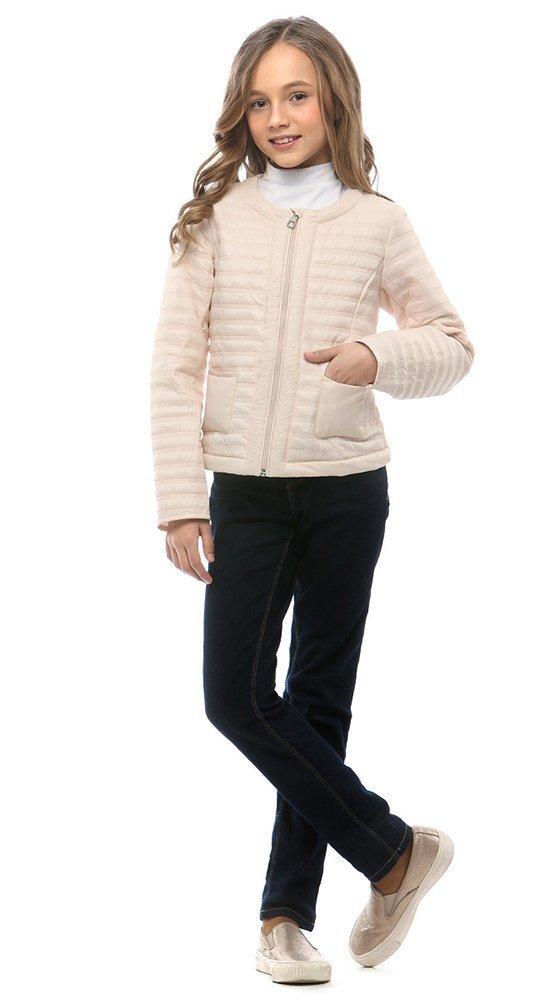Классическая детская курткаКуртки<br><br><br>Размер: 116-122, 128-134, 140-146, 152-158<br>Материал: Био-пух<br>Цвет: Молочный<br>Сезон: Демисезон<br>Длина: Короткая<br>Артикул: SG170202