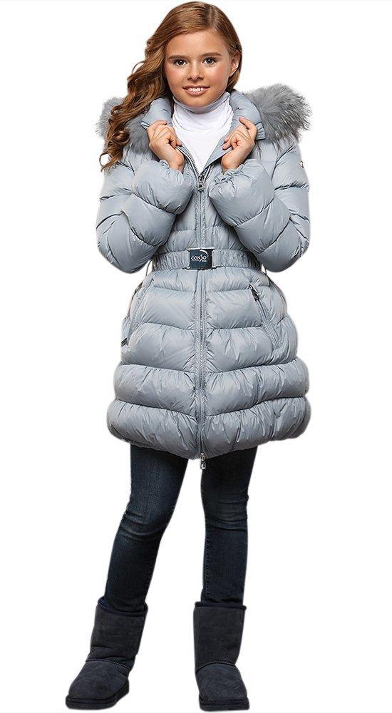 Пуховик для девочкиПуховики<br><br><br>Размер: 116-122, 128-134, 140-146, 152-158<br>Материал: Пух-перо<br>Цвет: Голубой<br>Сезон: Зима<br>Длина: Средняя<br>Артикул: GW160601