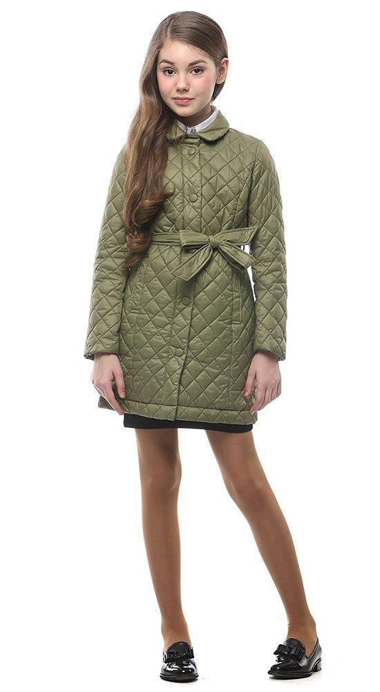 Детская куртка-пальтоКуртки<br><br><br>Размер: 116-122, 128-134, 140-146, 152-158<br>Материал: Био-пух<br>Цвет: Зелёный<br>Сезон: Демисезон<br>Длина: Средняя<br>Артикул: SG170210