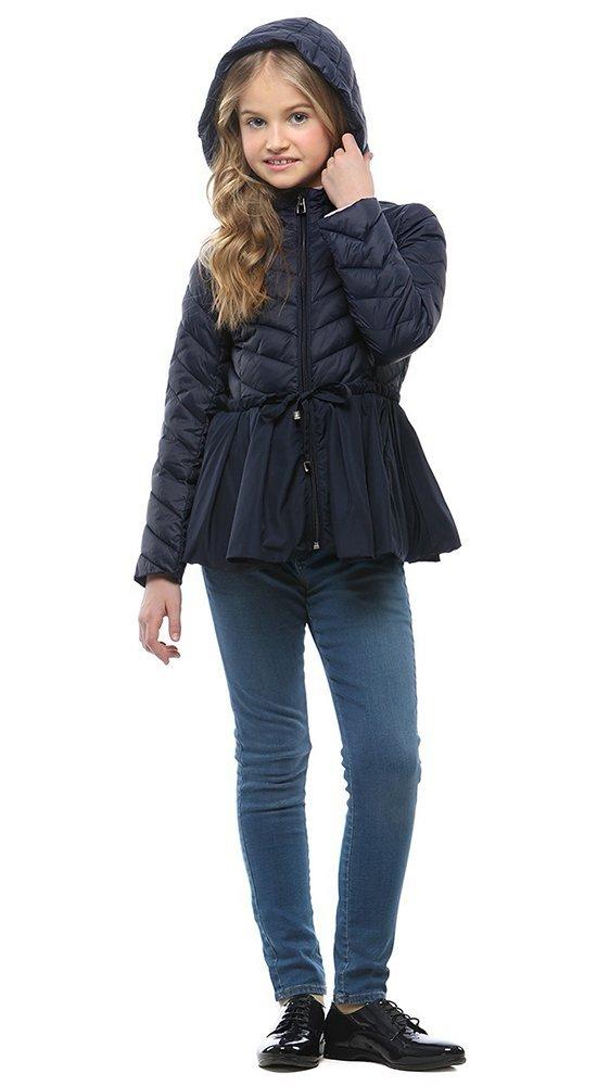 Куртка для девочки синяяКуртки<br><br><br>Размер: 116-122, 128-134, 140-146, 152-158<br>Материал: Био-пух<br>Цвет: Синий<br>Сезон: Демисезон<br>Длина: Средняя<br>Артикул: SG170208