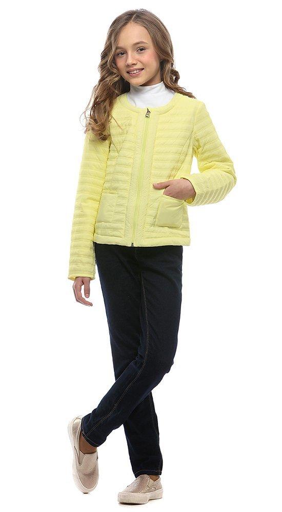 Демисезонная детская куртка CONSOWEARКуртки<br><br><br>Размер: 116-122, 128-134, 140-146, 152-158<br>Материал: Био-пух<br>Цвет: Жёлтый<br>Сезон: Демисезон<br>Длина: Короткая<br>Артикул: SG170202