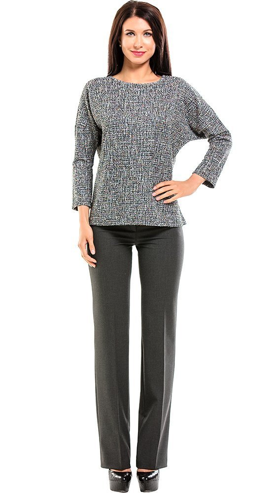 Трикотажный женский джемпер серого цветаКофты<br><br><br>Размер: 44, 46, 48, 50, 52, 54, 56<br>Материал: трикотаж<br>Цвет: Серый<br>Сезон: Демисезон, Осень, Зима<br>Длина: Короткая<br>Артикул: 6058