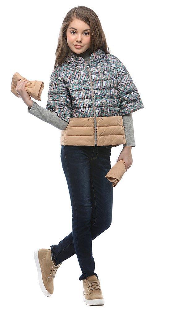 Детская куртка на веснуКуртки<br><br><br>Размер: 116-122, 128-134, 140-146, 152-158<br>Материал: Био-пух<br>Цвет: Мульти<br>Сезон: Демисезон<br>Длина: Короткая<br>Артикул: SG170201