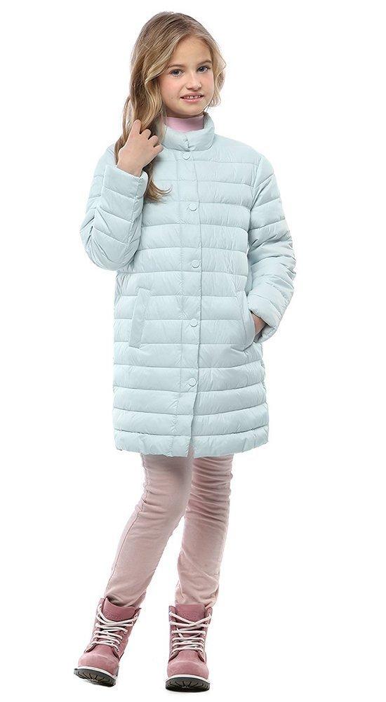 Голубая детская курткаКуртки<br><br><br>Размер: 116-122, 128-134, 140-146, 152-158<br>Материал: Био-пух<br>Цвет: Голубой<br>Сезон: Демисезон<br>Длина: Средняя<br>Артикул: SG170209