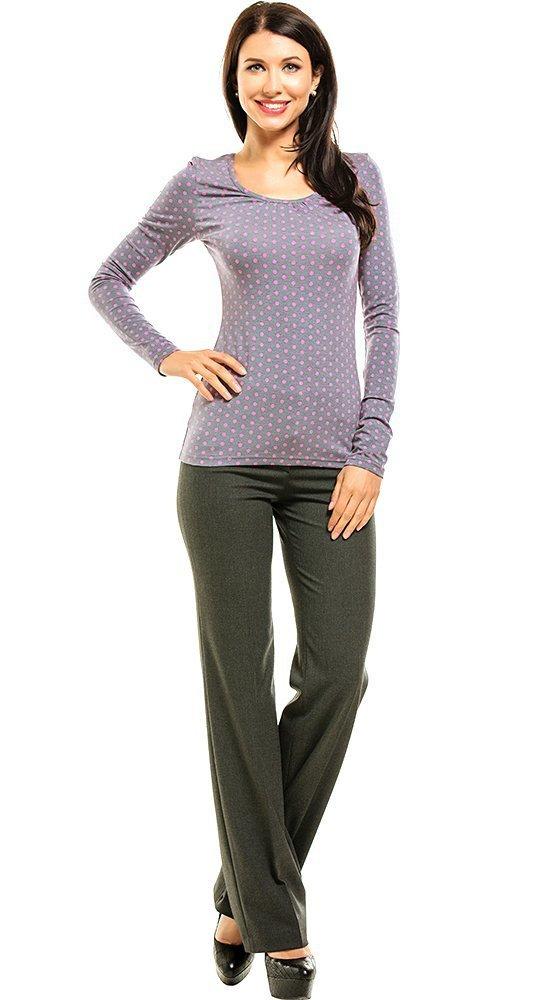 Женская кофта с длинным рукавом в горошек REMIX 6051